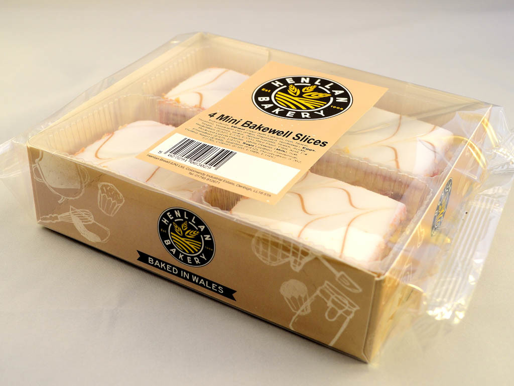 Henllan Bakery - Mini Bakewell Slices X 4