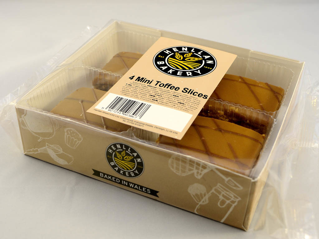 Henllan Bakery - Mini Toffee Slice X 4
